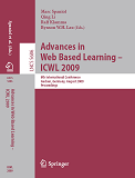 Book Cover: Advances in Web Based Learning - ICWL 2009