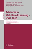 Book Cover: Advances in Web Based Learning - ICWL 2010