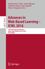 Book Cover: Advances in Web Based Learning - ICWL 2016
